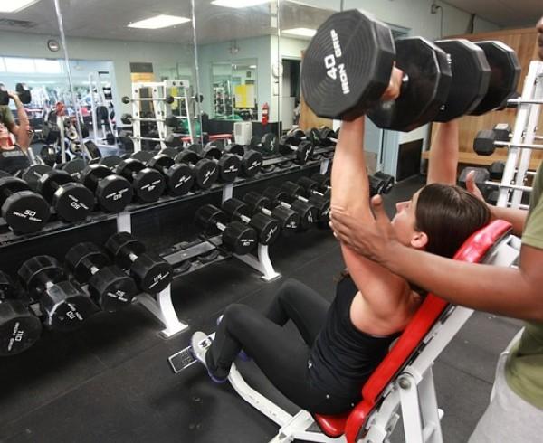 instrutor de academia de musculação