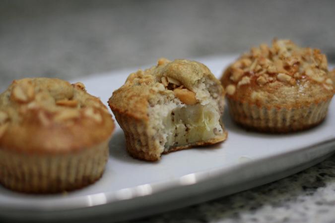 Muffin Proteico de Banana com Amendoim