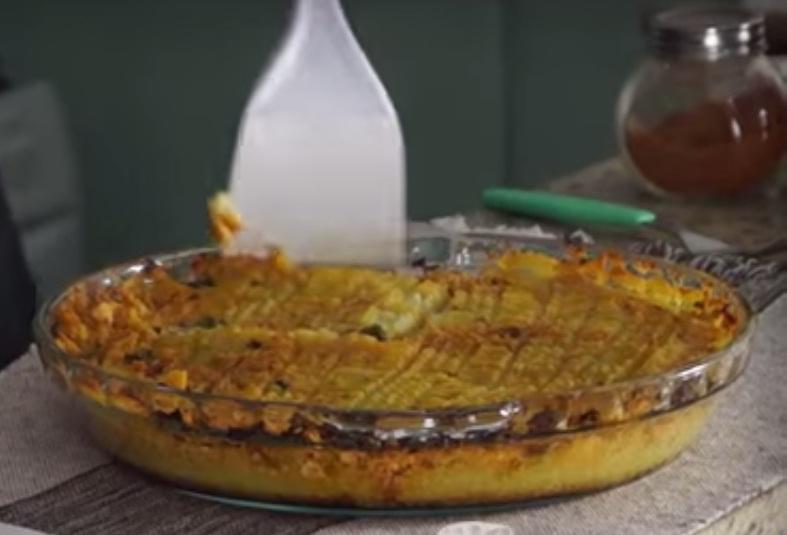 Torta de Batata Doce e Frango