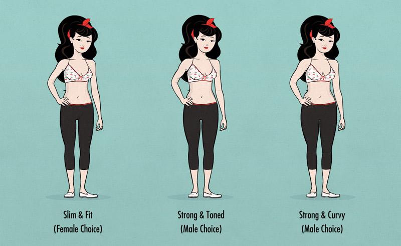mulher magra e forte