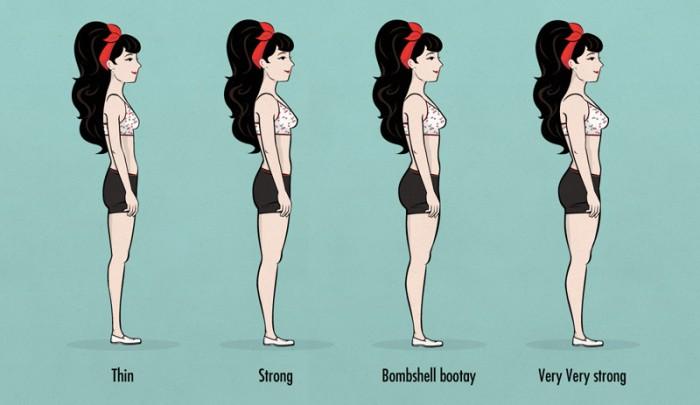 tamanho de glúteo ideal da mulher magra