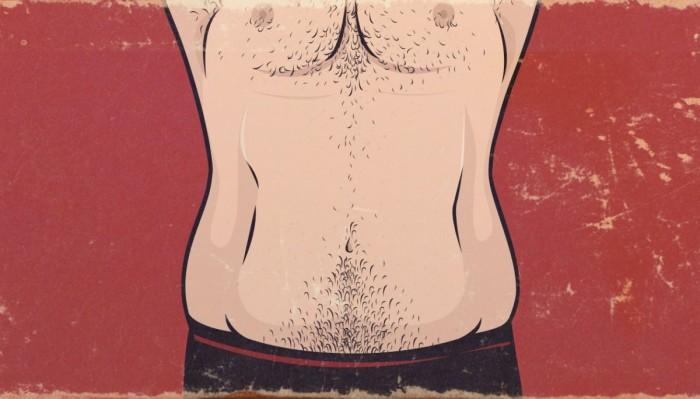 corpo ectomorfo falso magro barriga