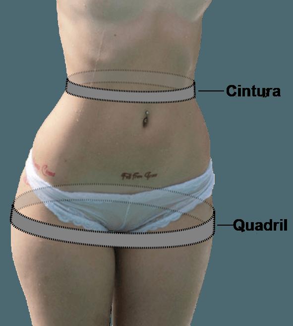 relação cintura-quadril mulher