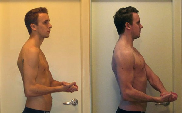 Evolução de composição corporal do Brett