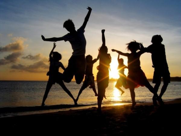 celebrar a vida com amigos