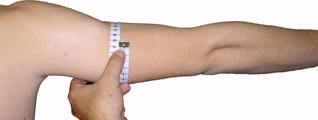 medindo braço
