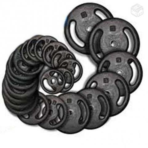 anilhas de vários tamanhos