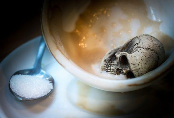 açúcar branco veneno