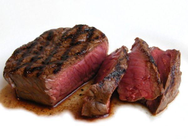 bife de carne vermelha corte patinho