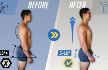 postura antes e depois de alongamentos